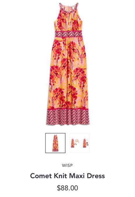 Stitch Fix Wisp Comet Knit Maxi Dress