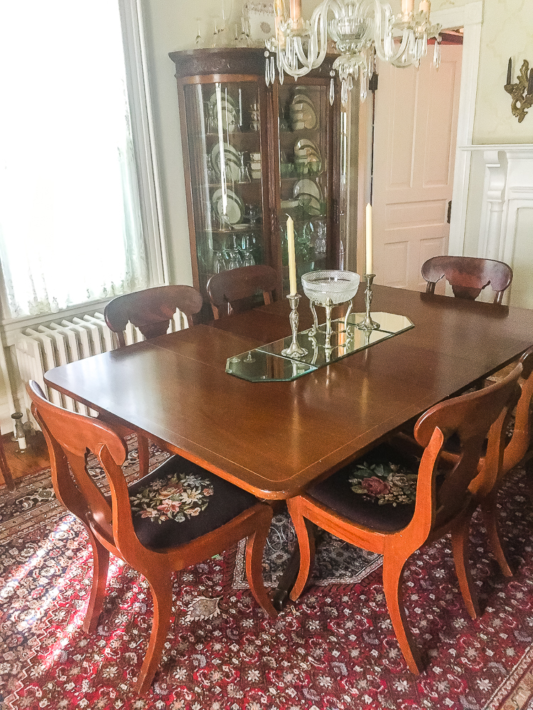 1912 Dining Room furnished with Antiques