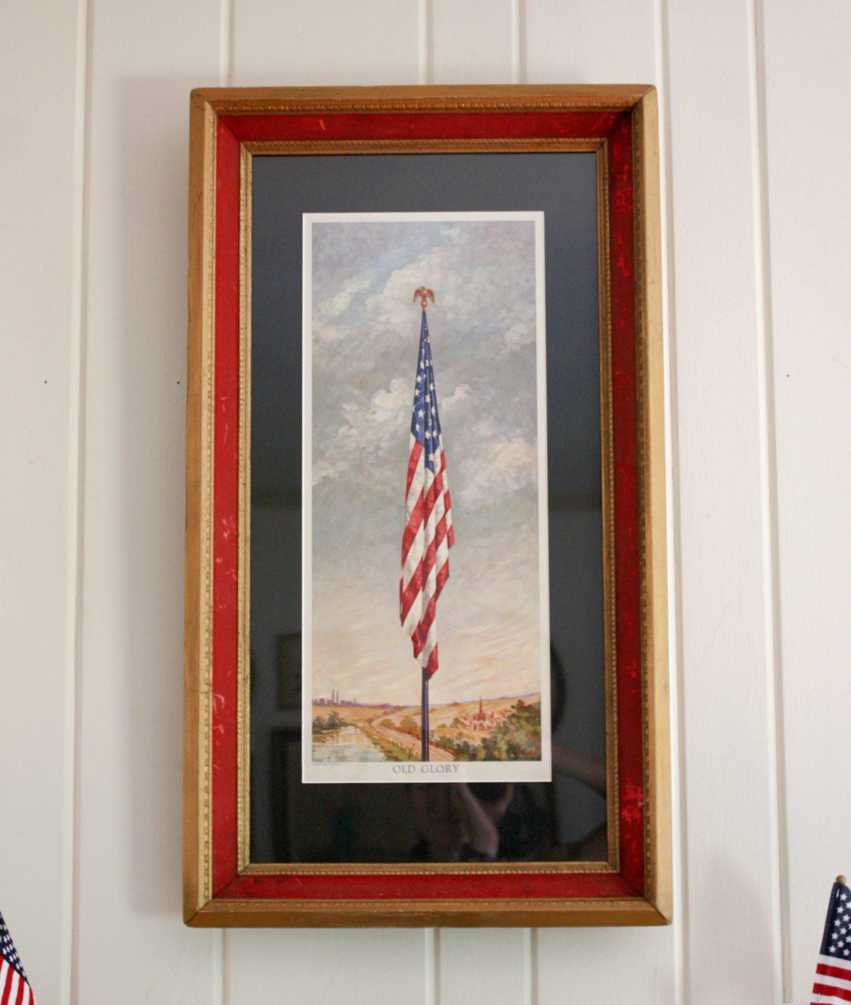 H. S. Roberts 1942 Old Glory Flag Print