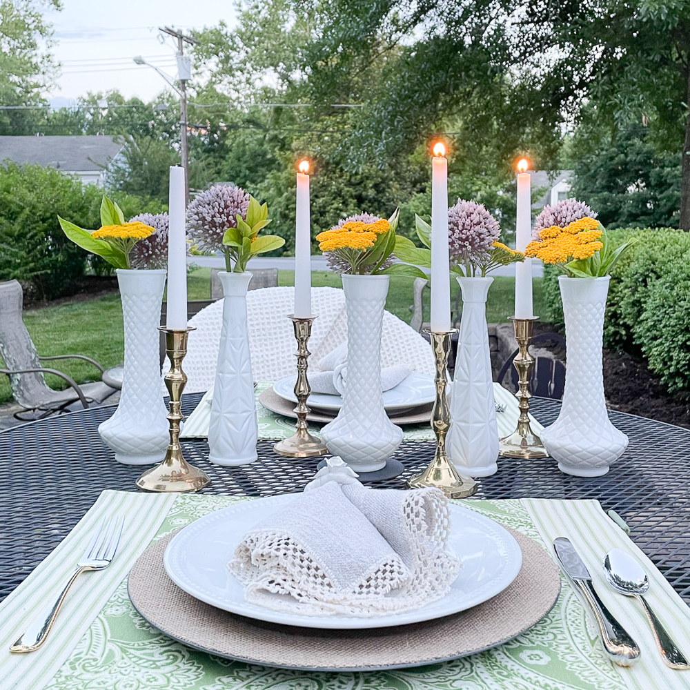 Outdoor summer tablescape
