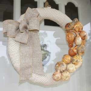 Wreath with dried gourds