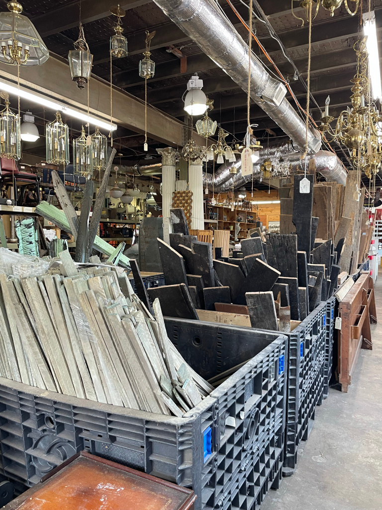 Architectural Salvage at Black Dog Salvage in Roanoke, Virginia