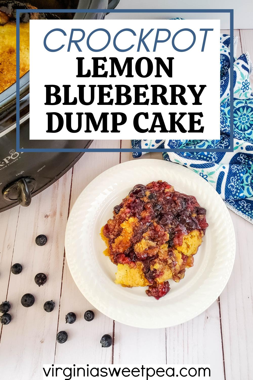Crockpot Lemon Blueberry Dump Cake