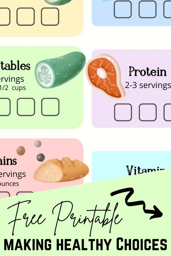 Free Printable Healthy Choices Food Tracker