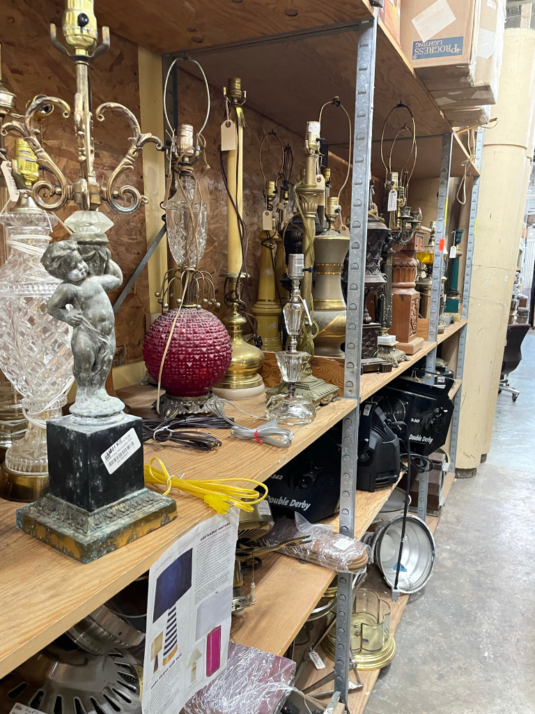 Lamps for sale at Black Dog Salvage