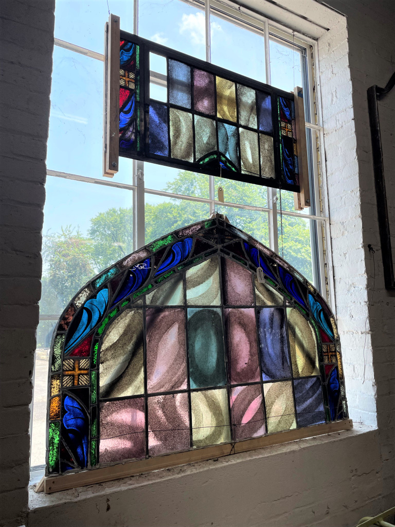 Stained glass for sale at Black Dog Salvage