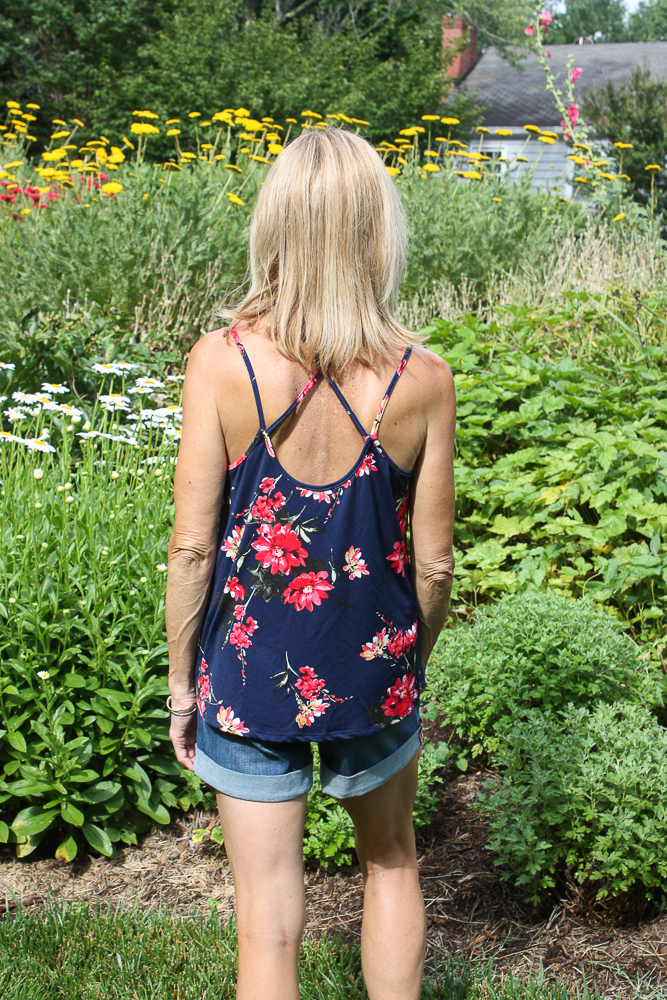 Stitch Fix Papermoon Basima Back Detail Knit Top with Judy Blue Lillian Tacked Cuffed Short