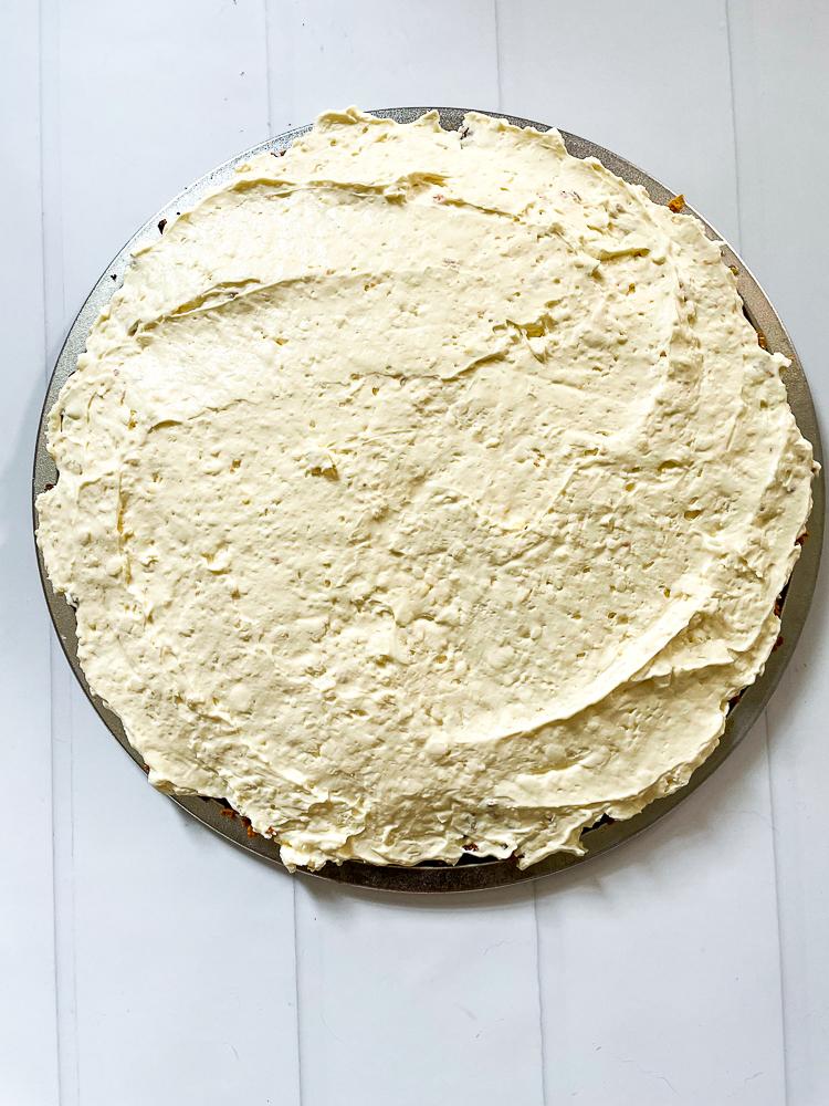 Filling on a brown sugar cornflake crust