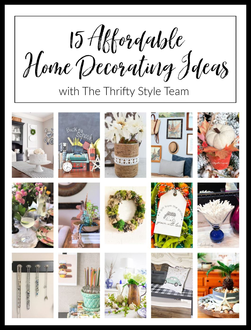 15 Affordable Home Decorating Ideas