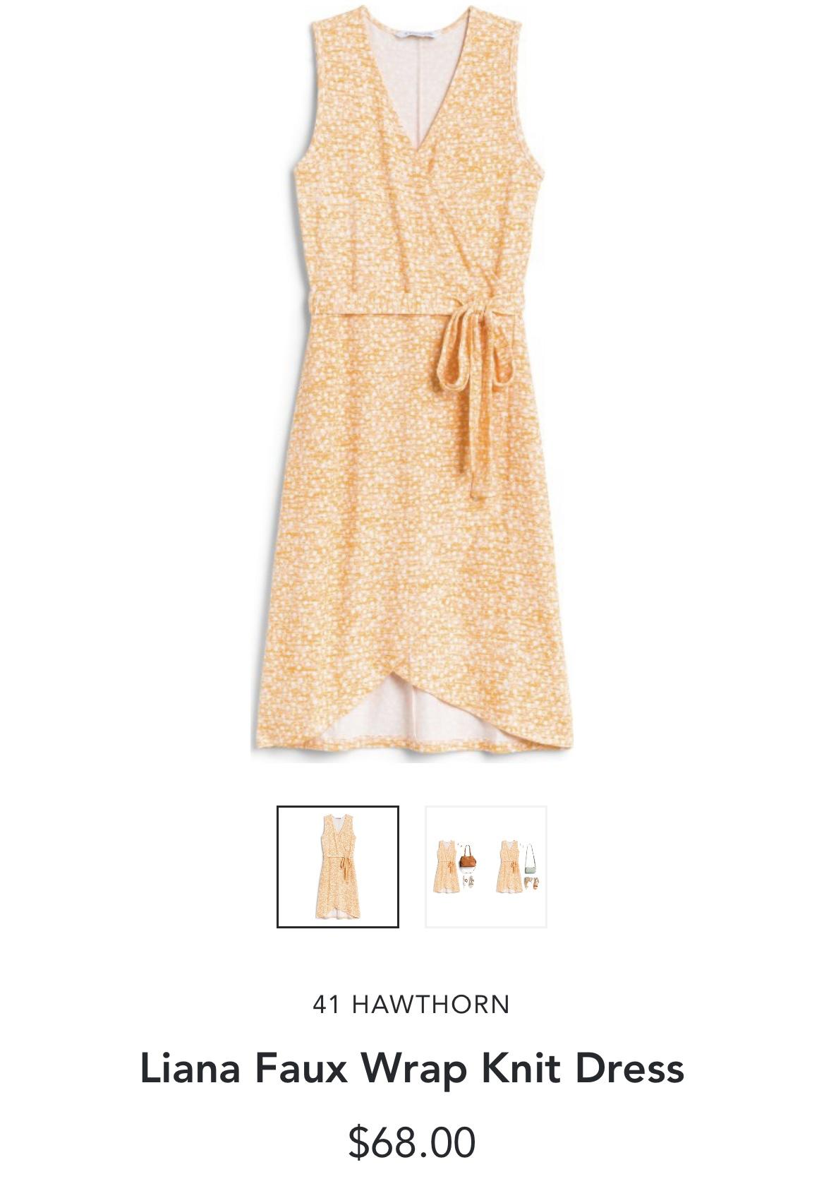 Stitch Fix 41 Hawthorne Liana Faux Wrap Knit Dress