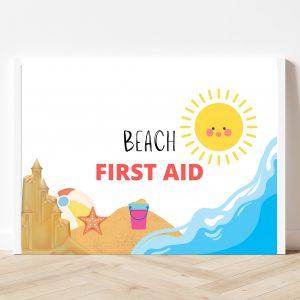 Free Printable Beach First Aid Kit