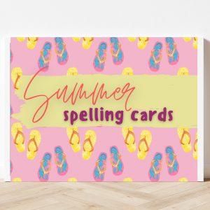 Free Printable Summer Spelling Cards