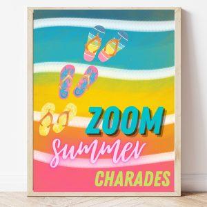 Free Printable Zoom Summer Charades