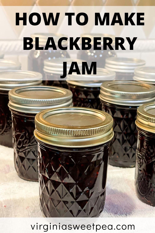 Jars of blackberry jam