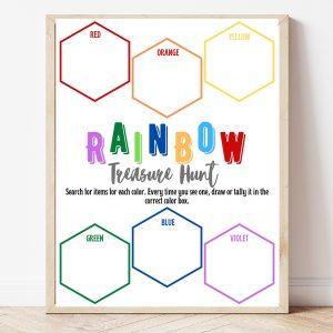 Free Printable Rainbow Treasure Hunt