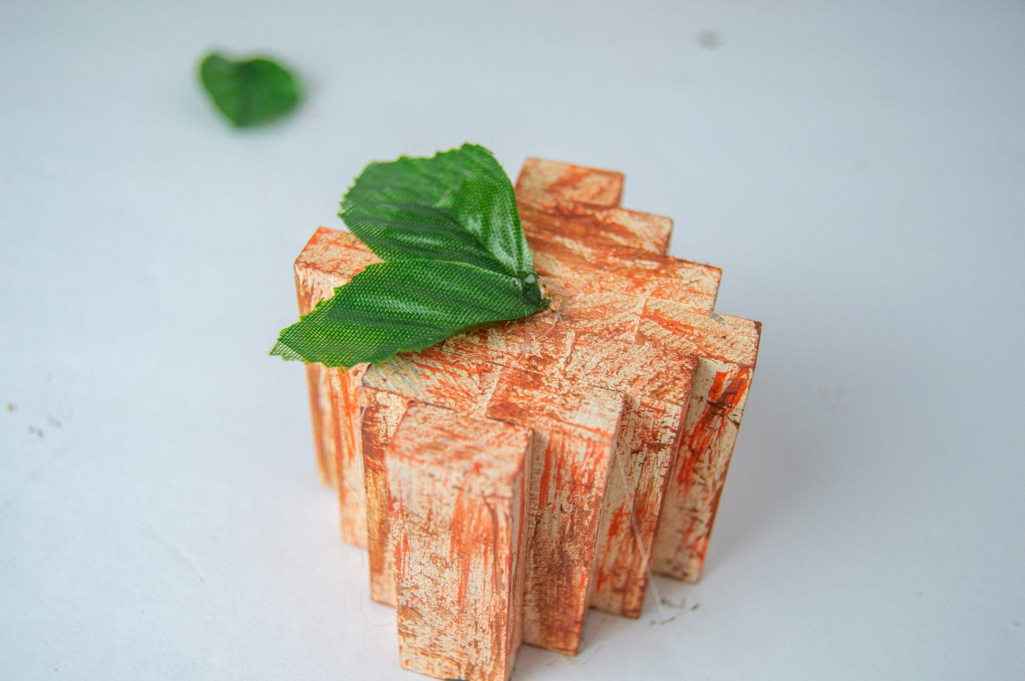 Dollar Tree Tumbling Tower Block Pumpkins