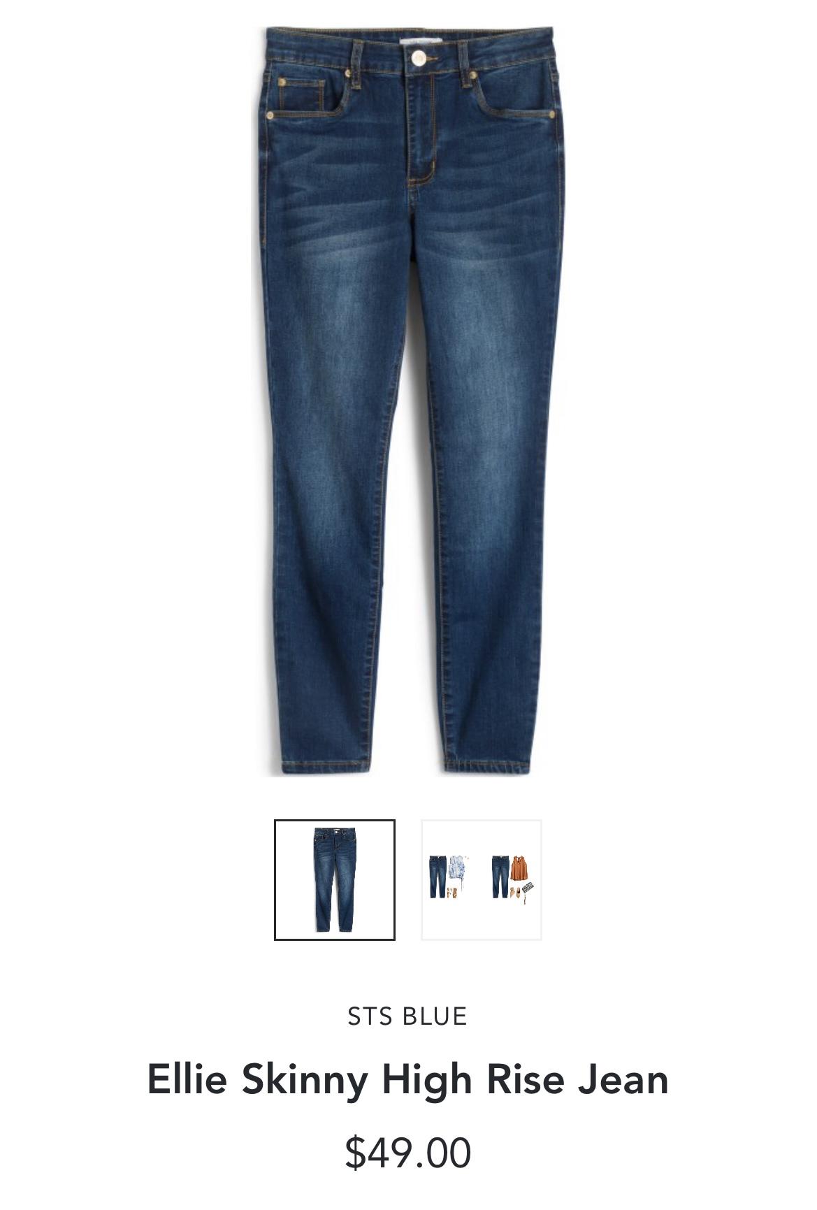 Stitch Fix STS Blue Ellie Skinny High Rise Jean