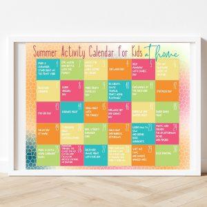 Free Printable Summer Activity Calendar for Kids