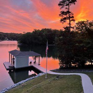 Sunrise at Smith Mountain Lake, VA