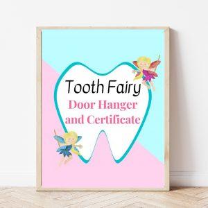 Free Printable Tooth Fairy Door Hanger and Certificate
