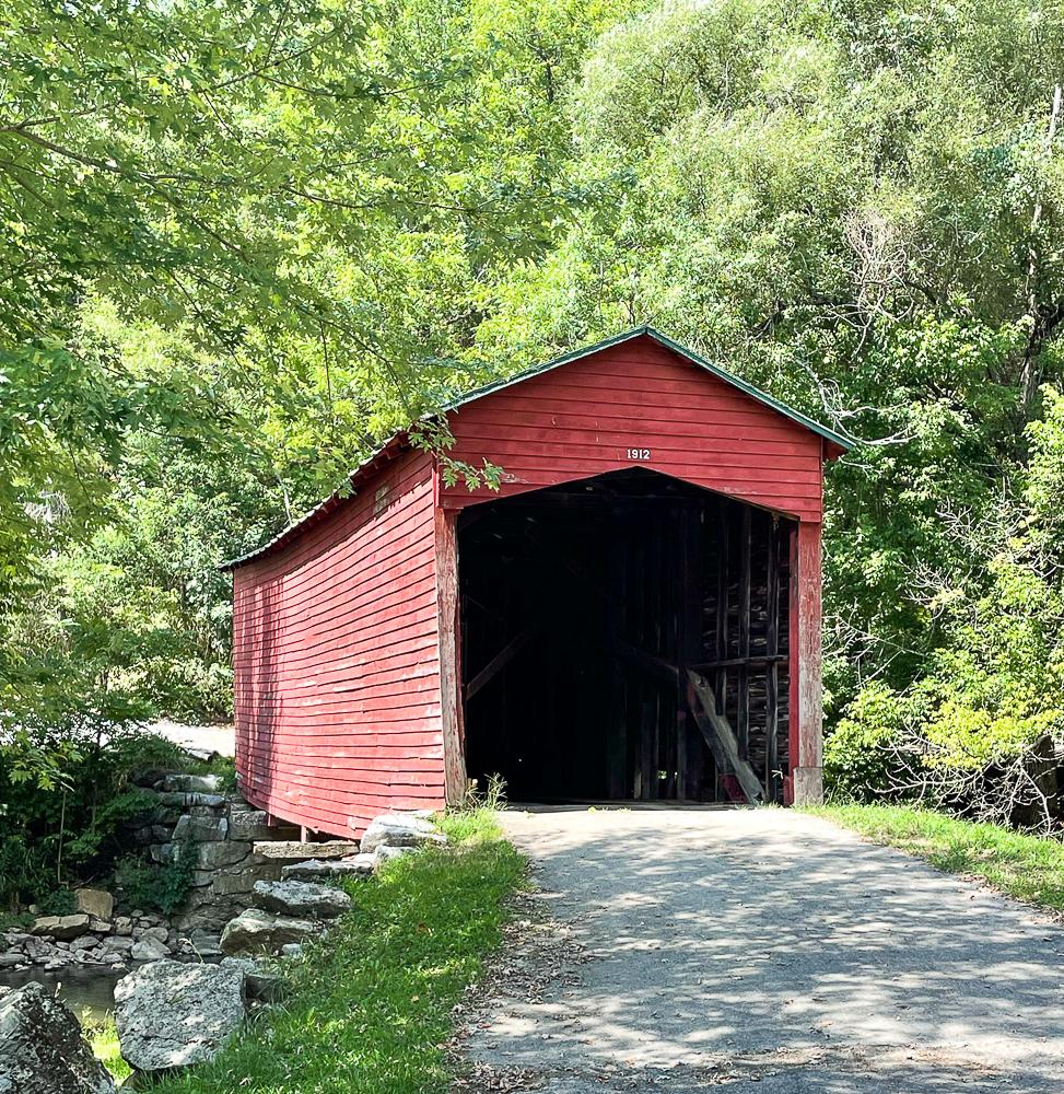 Sinking Creek Covered Bridge in Giles County, VA