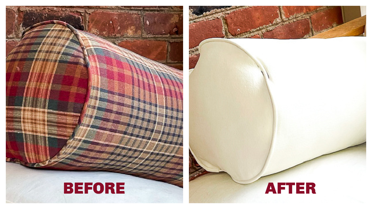 How to Update Pillows with Paint