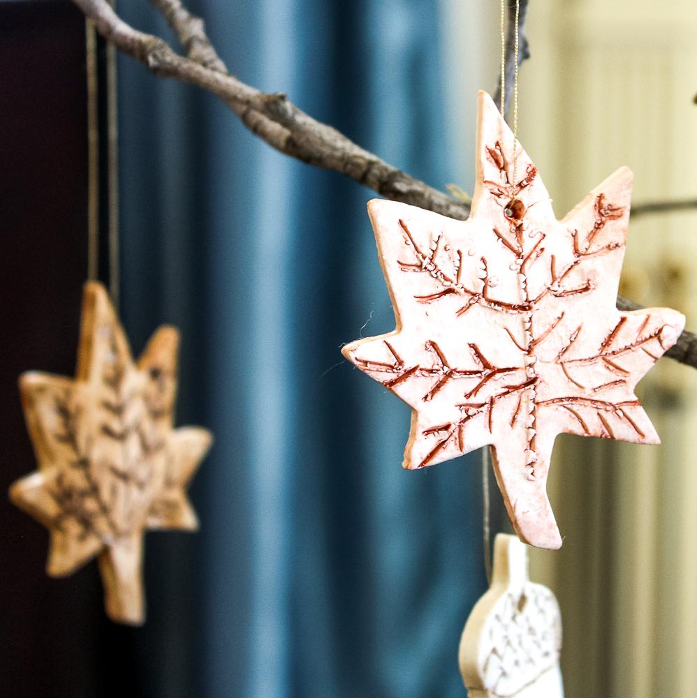 fall clay ornaments