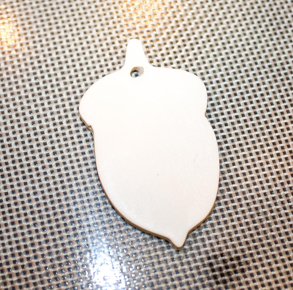 Acorn shaped clay ornament