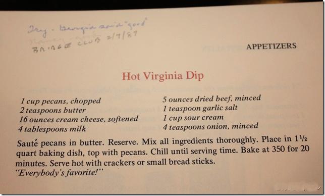 Hot Virginia Dip Recipe from Virginia Hospitality Cookbook