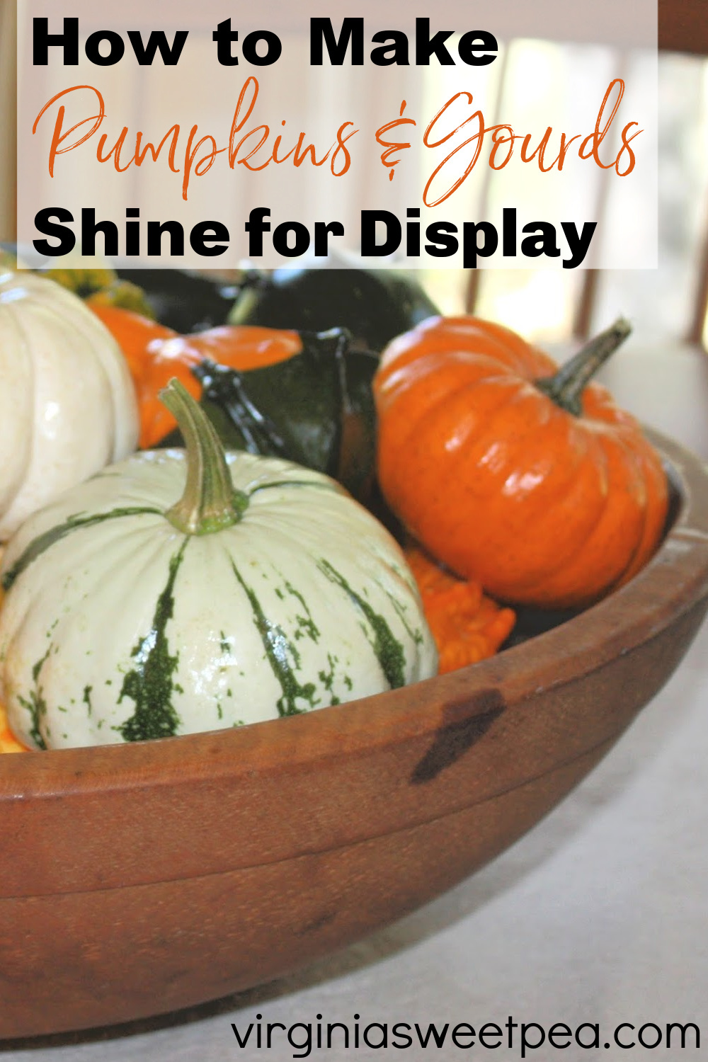 How to Make Pumpkins and Gourds Shine for Display