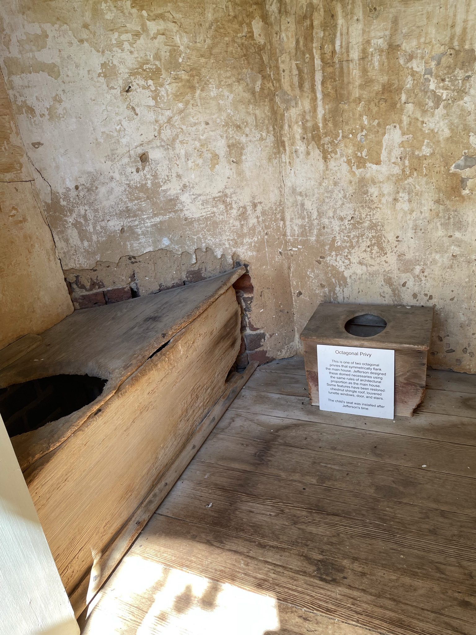 Outdoor Privy at Poplar Forest, summer home of Thomas Jefferson