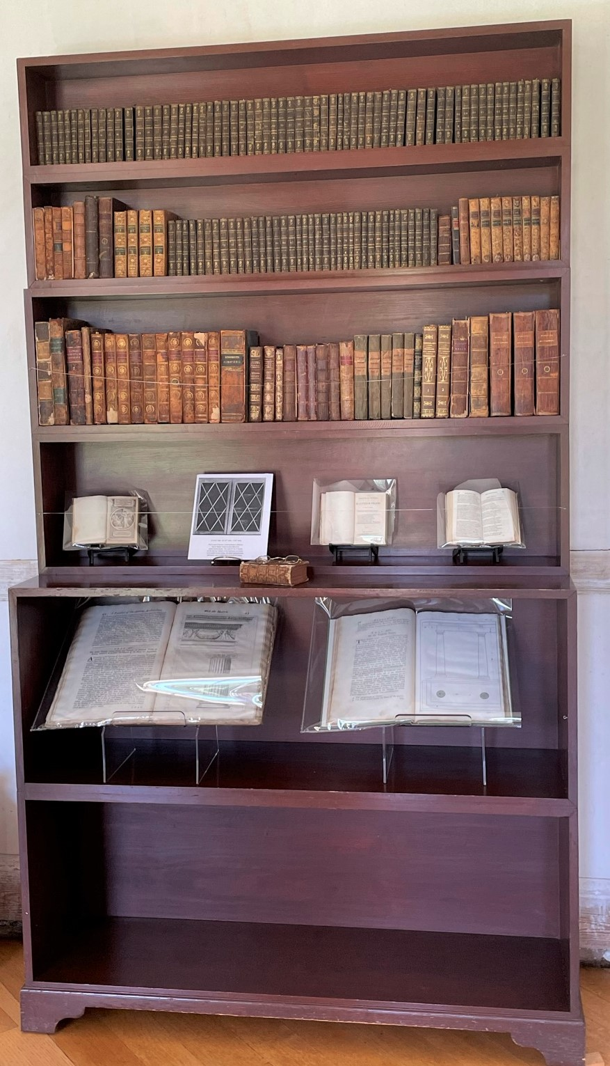 Bookcase in Poplar Forest Parlor