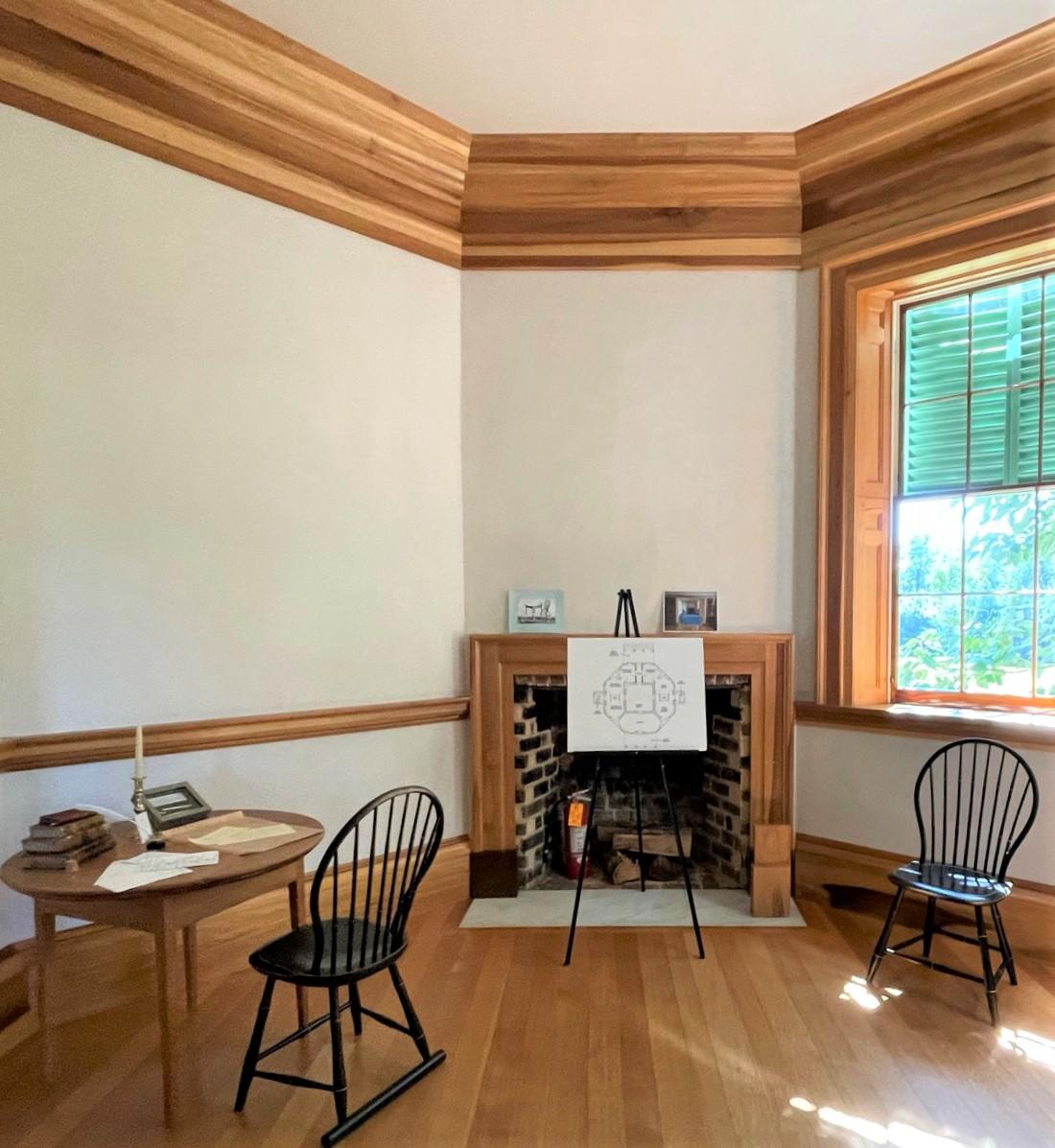 Thomas Jefferson's bedroom at Poplar Forest