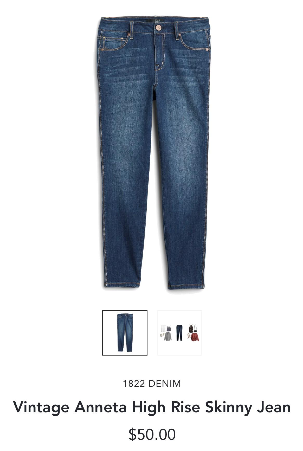 Stitch Fix 1822 Denim Vintage Anneta High Rise Skinny Jean