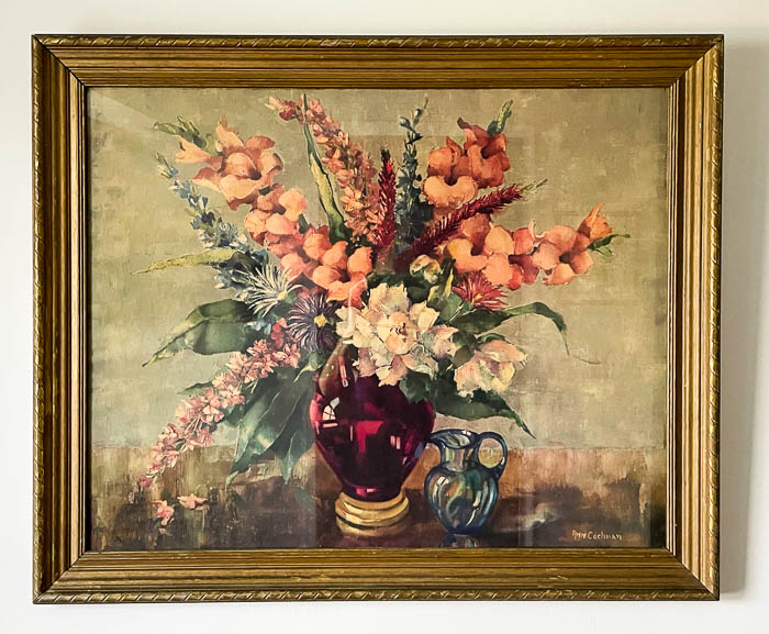 Antique floral painting