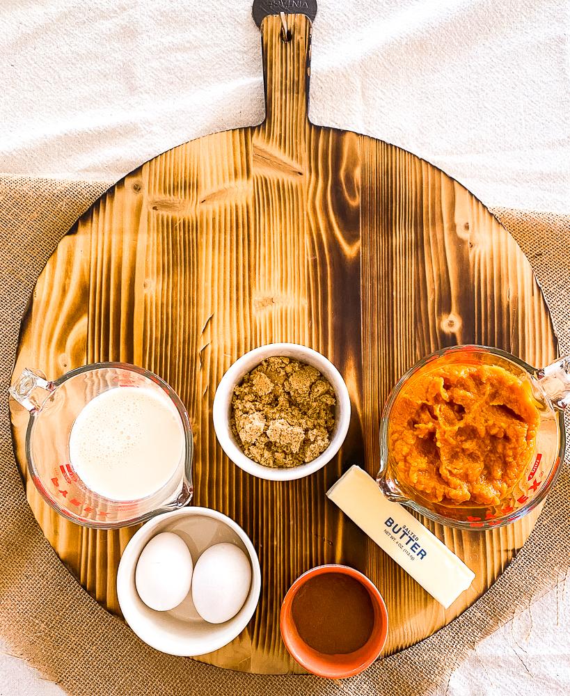 Pumpkin Bars filling ingredients
