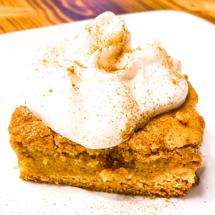 Pumpkin bars with whipped topping