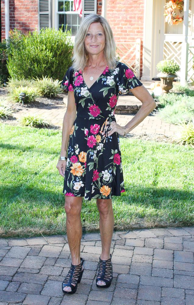 Stich Fix Fortune + Ivy Kegan Faux Wrap Brushed Knit Dress