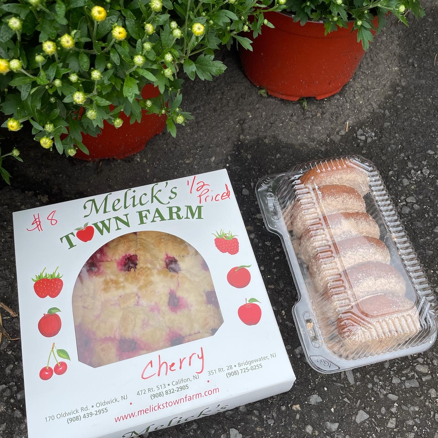 Melick's Town Farm cherry pie and cider donuts