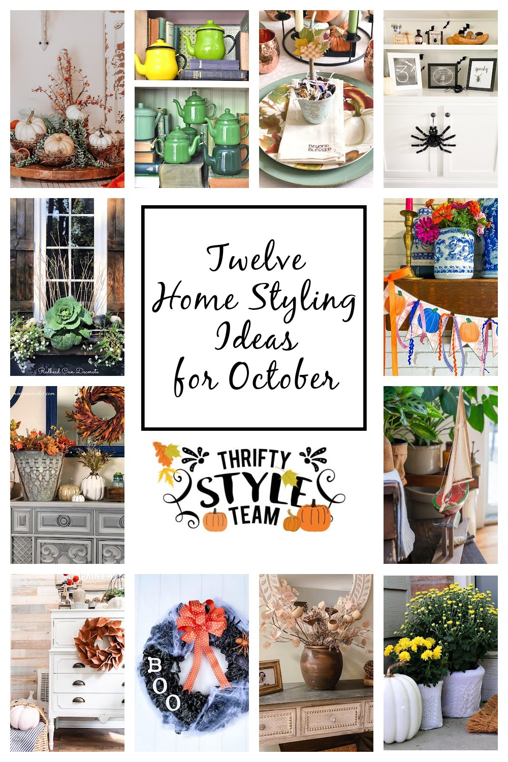 Twelve Home Styling Ideas for October